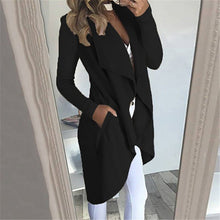 Load image into Gallery viewer, Open Front Jacket For Ladies - Waterfall Duster Coat