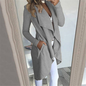 Open Front Jacket For Ladies - Waterfall Duster Coat