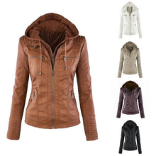 Load image into Gallery viewer, Faux Leather Jacket Outerwear Waterproof Ladies Coat