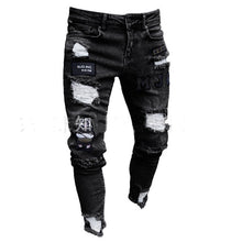 Load image into Gallery viewer, Men Stretchy Ripped Skinny Biker Jeans