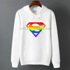 white rainbow shirt for men with love hoodies