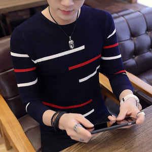 Men Long Sleeve Knitted Sweater