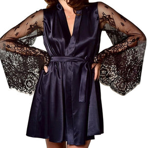 Sleeping Robe Silk Stain Intimate Sleepwear