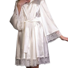 Load image into Gallery viewer, Sleeping Robe Silk Stain Intimate Sleepwear