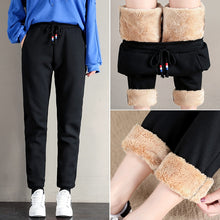 Load image into Gallery viewer, Women Winter Thick Lambskin Pants Warm