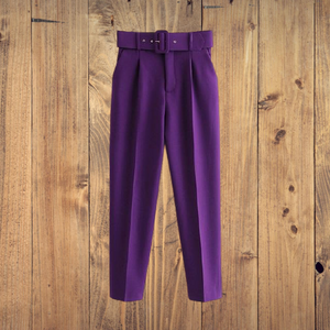 Woman Suit Pants With sashes pockets