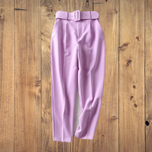 Load image into Gallery viewer, Woman Suit Pants With sashes pockets