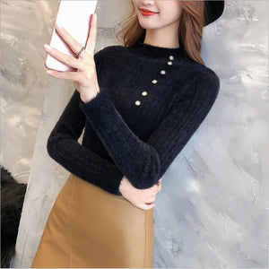 Slim Sweaters Women Warm Knitted Sweater