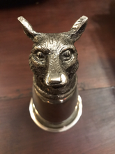 Load image into Gallery viewer, Gucci Stirrup Cup Fox, Silverplate, Mid Century, Italy