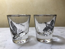 Load image into Gallery viewer, Bar/Tableware Shot Glasses, Vintage Pair Of Gamebirds, Canada Goose & Grouse