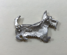Load image into Gallery viewer, Brooch, Terrier, by LIA, Vintage 1970-80's, silver tone & enamel