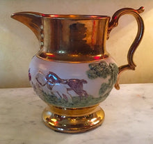 Load image into Gallery viewer, Bar/Tableware, Fine China Hunt Scene Pitcher, Bourne Denby Derby, 1930's era