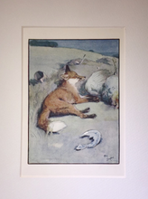 Load image into Gallery viewer, Print: Vintage Cecil Aldin Fox at rest