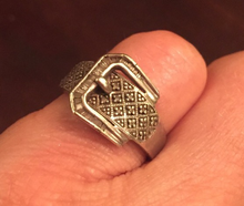 Load image into Gallery viewer, Ring, Vintage Sterling & Marcasite Buckle design