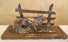 Load image into Gallery viewer, Desk Letter Holder, Old English Brass Fox & Fence