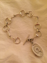 Load image into Gallery viewer, Bracelet, AH designed 19th C Horse Shoe Locket on Sterling Bit links