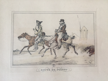 Load image into Gallery viewer, Prints, A Pair by Carle Vernet, framed set, antique (1738-1856, French, lithographer).