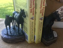Load image into Gallery viewer, Bookends, Mare & Foal on Marble base