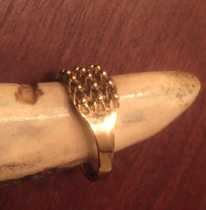 "Ring, 9 kt gold ""keeper"" ring"