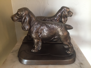 Bookends, Frankart Spaniels, (1930-1940)