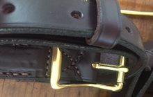 Load image into Gallery viewer, Hound couples, leather w solid brass hardware, LIMITED QUANTITY