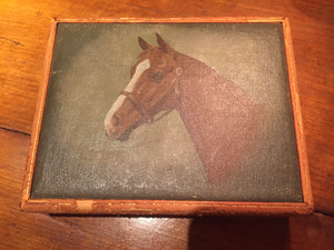 Box w Original Oil Portrait by C. Frederick Sitzler, Jr. (1949-1990)