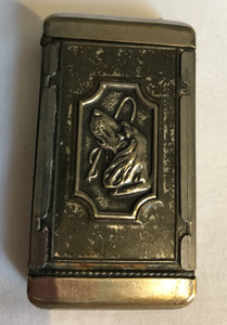 Vesta case-Lighter case with Foxhound & Whip, 1900's, Desk Conversation Piece