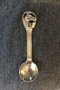 Bar/Tableware, Silver, horse head salt spoon