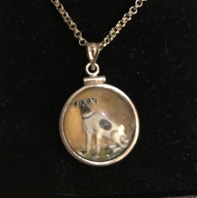 Load image into Gallery viewer, Necklace, reverse crystal, double sided terrier