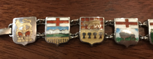 Load image into Gallery viewer, Bracelet, Guilloche enamel on sterling, Canadian shields-coats of arm