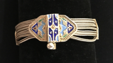 Load image into Gallery viewer, Bracelet, 800 silver, Art Deco type, chains with enamel slides