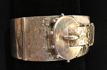 Load image into Gallery viewer, Bracelet, 1900's era Silver Buckle, hand engraved