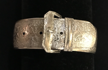 Load image into Gallery viewer, Bracelet, buckle style, 1970's era, sterling