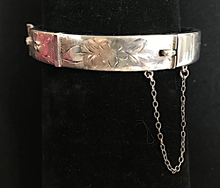 Load image into Gallery viewer, Bracelet, buckle, Victorian style, petite, sterling, Joseph Smith & Sons