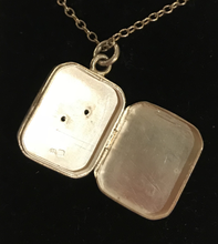 Load image into Gallery viewer, Locket, fox head & horse shoe, sterling 1886