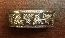 Load image into Gallery viewer, Scarf ring, 19th c, sterling, intricate ivy design