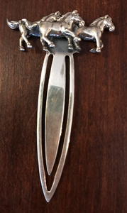 Bookmark, Sterling with galloping horses