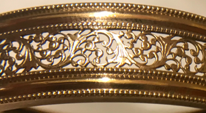 Bracelet, Edwardian-Antique Rolled Gold intricate bangle
