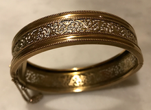 Load image into Gallery viewer, Bracelet, Edwardian-Antique Rolled Gold intricate bangle