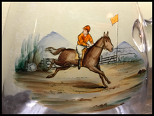 Load image into Gallery viewer, Bar/Tableware, Decanter, Antique blown glass with racing scene