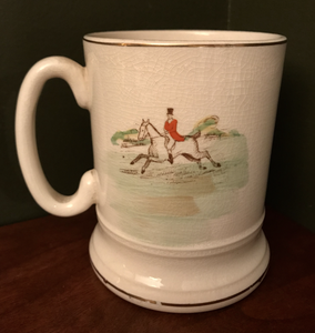 Bar/Tableware, Tankard or Mug, 1930's Arthur Wood hunting Scene