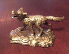Load image into Gallery viewer, Tiffany Statue Bronze Fox
