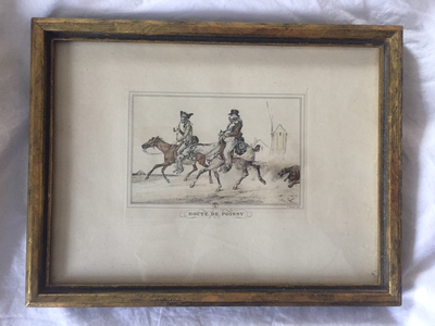 Prints, A Pair by Carle Vernet, framed set, antique (1738-1856, French, lithographer).