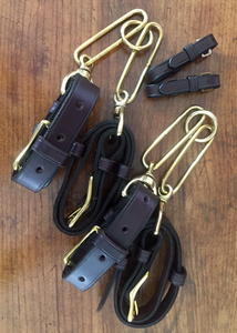 Hound couples, leather w solid brass hardware, LIMITED QUANTITY