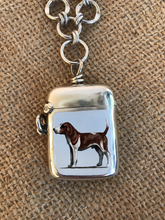 Load image into Gallery viewer, Necklace, AH designed Sterling Hound Vesta Case on Toggle Chain