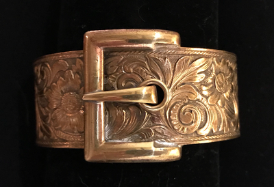 Bracelet, buckle style, Victorian, rolled gold