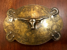 Load image into Gallery viewer, Belt Buckle, classic Texas Longhorn, circa 1950-1980