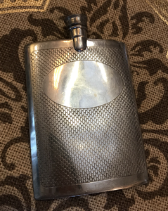Flask, English Pewter, Mid Century