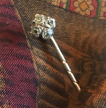 "Load image into Gallery viewer, Stickpin, Victorian, petite, with 4 ""diamonds"""