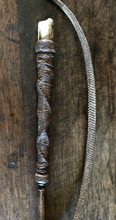Load image into Gallery viewer, Beagling Whip, rare, antique-Victorian era, whistle topped, with exceptional plaiting, part of original thong and an adjustable length shaft